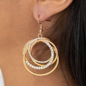 Elegantly Entangled - Gold Earrings
